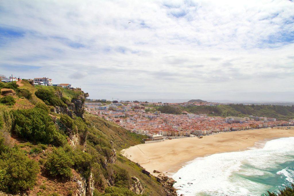 Plage de Nazare vacances au Portugal
